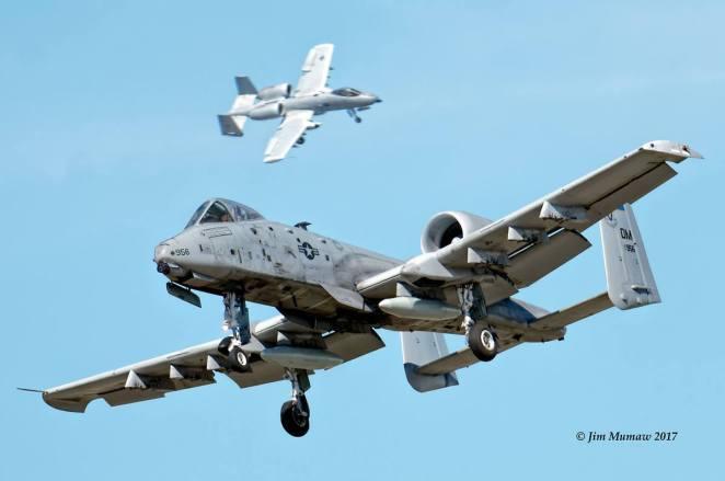 Dua Pesawat Serang A-10 Thunderbolt Jatuh