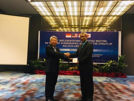 Pushidrosal secara resmi sebagai administrator Electronic Navigational Chart (ENC) di perairan Selat Malaka dan Selat Singapura