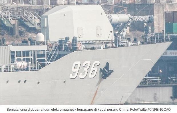 Kapal Perang China Diduga Mempunyai Senjata Railgun Elektromagnetik